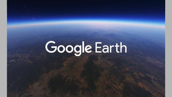 Google Earth rodando no browser e exibindo notícias do Google News