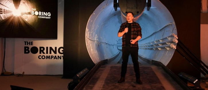 Elon Musk anuncia startup de túneis de alta velocidade (The Boring Company)
