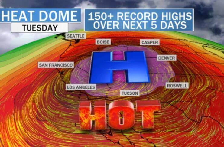Califórnia registra uma das maiores temperaturas desde 1913 2