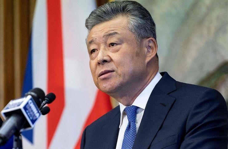 """Usuários alegam que o embaixador chinês """"gostou"""" de tweets ofensivos 3"""