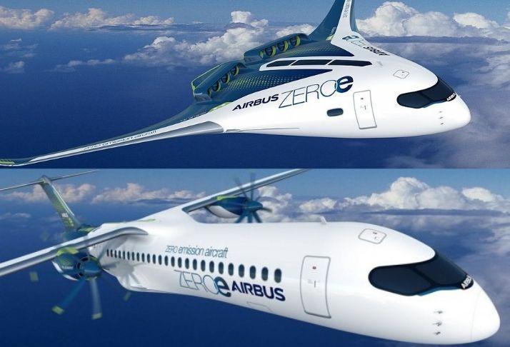 Airbus revela os primeiros aviões comerciais do mundo com emissão zero