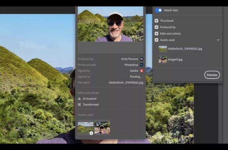 Adobe adiciona ferramenta de 'autenticidade de conteúdo' em versão beta do Photoshop