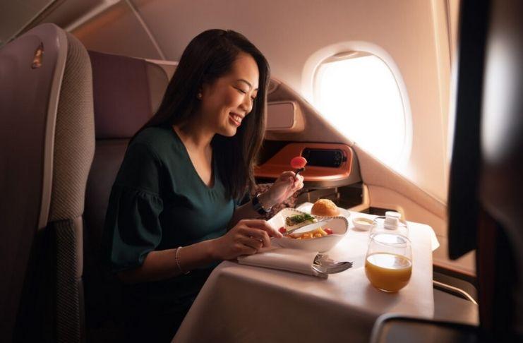 Airbus A380 é transformado em um restaurante durante a pandemia