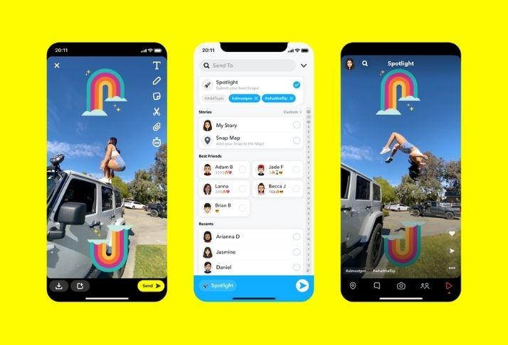 Snapchat lança Spotlight, novo recurso semelhante ao TikTok