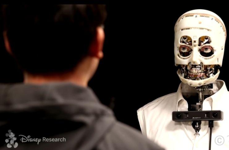 """Walt Disney revela um robô """"assustador"""" que age como humano 3"""