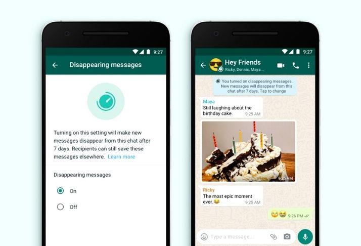 Prazo de validade: Recurso do WhatsApp permite mensagens que desaparecem após 7 dias