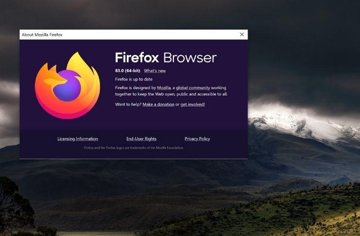 Firefox 83: Menos uso de memória, suporte touchscreen, PIP e mais!