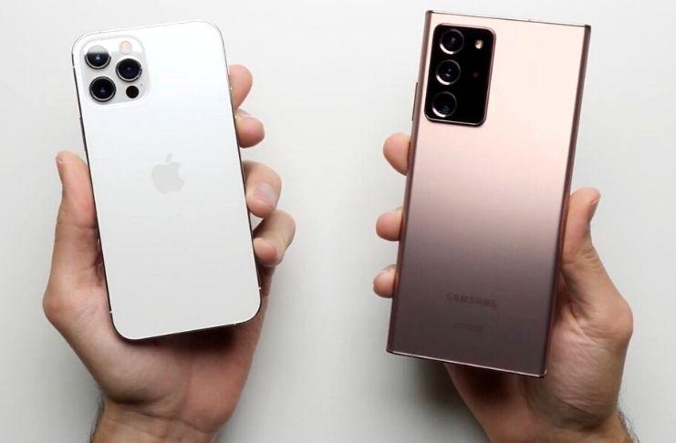 iPhone 12 x Samsung Note 20 Ultra: Apple ganha em teste de velocidade