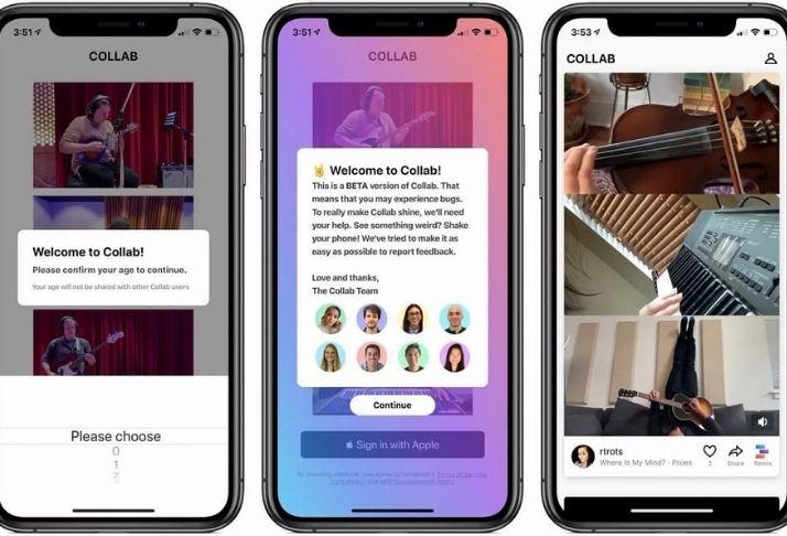 Collab, o novo aplicativo de vídeos colaborativos do Facebook