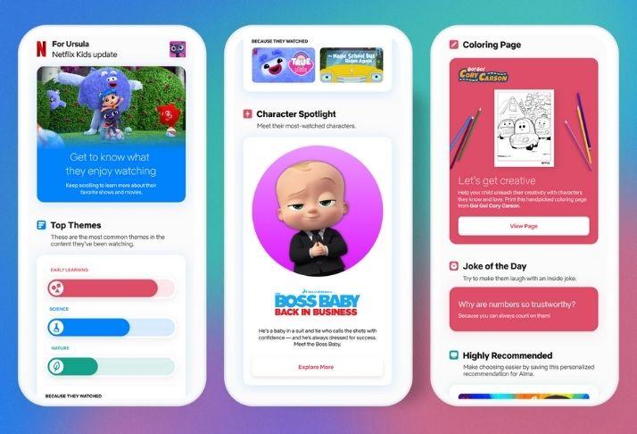 Netflix projeta plataforma kids com atividades, sinopse de filmes, desenhos e piadas
