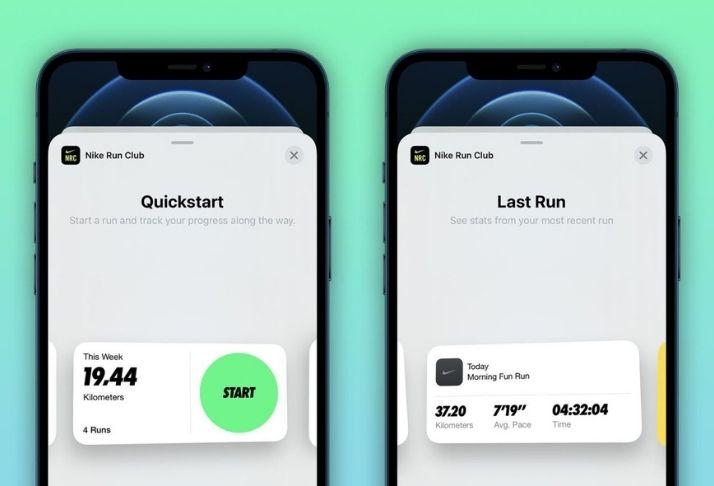 Nike Run Club: Atualização adiciona widgets de tela inicial para iOS 14