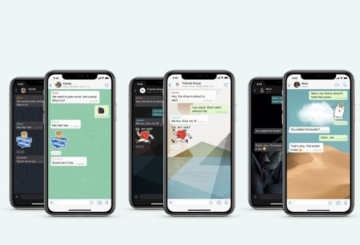 WhatsApp no iOS traz papéis de parede para chats individuais, adesivos, e mais!